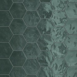 Hexagon Wall Green Echo