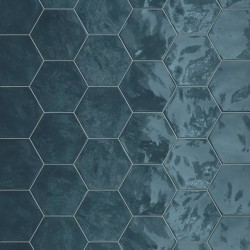 Hexagon Wall Ocean Wave